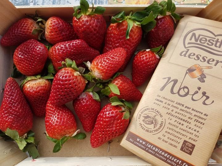 Ma recette de fraises enrobées dechocolat!
