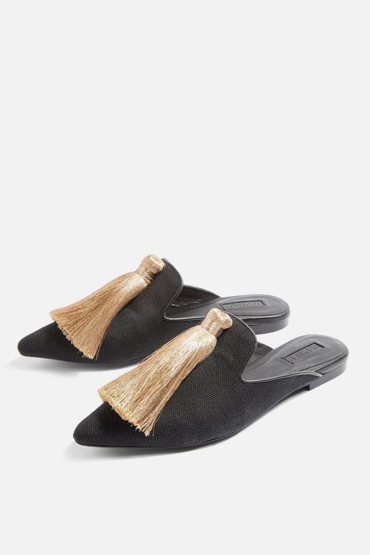 Mules frange TOP SHOP